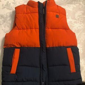 Janie & Jack Boys Orange & Navy Vest ~NWT size 3-4